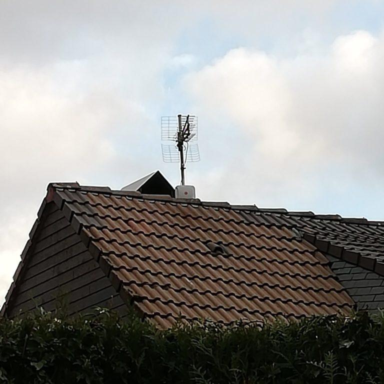 antenne modem 4G sur mât