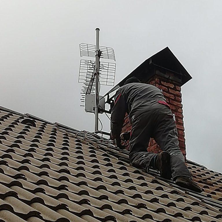 Pose antenne 4G extérieure