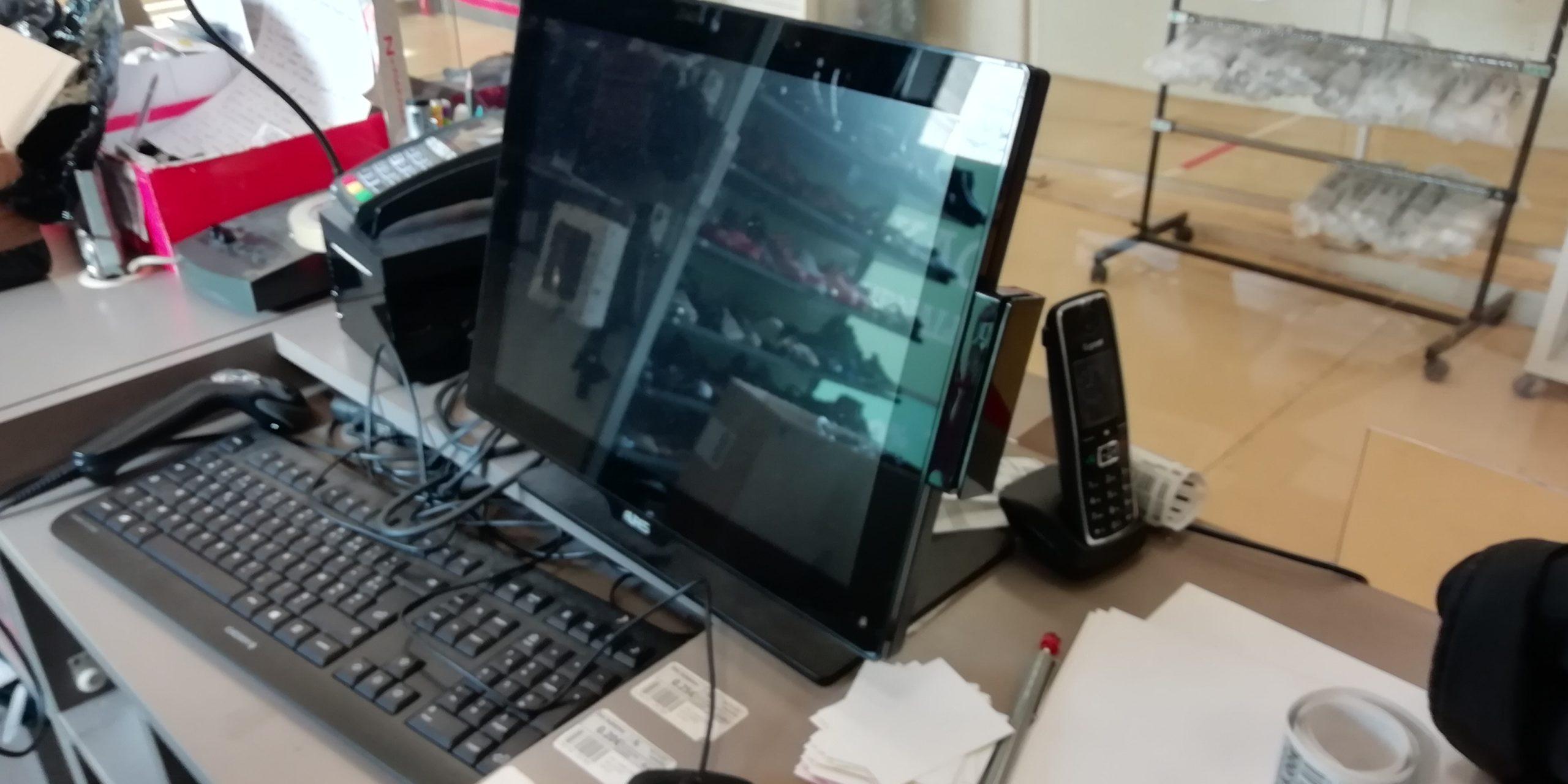 Dépannage informatique sur 3 caisses dans un commerce à Rouen 76000